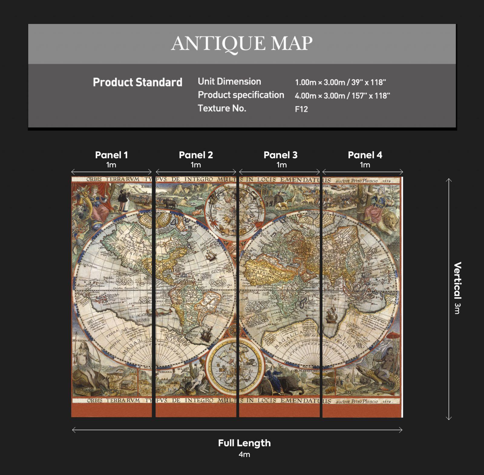Antique Map Dimensions