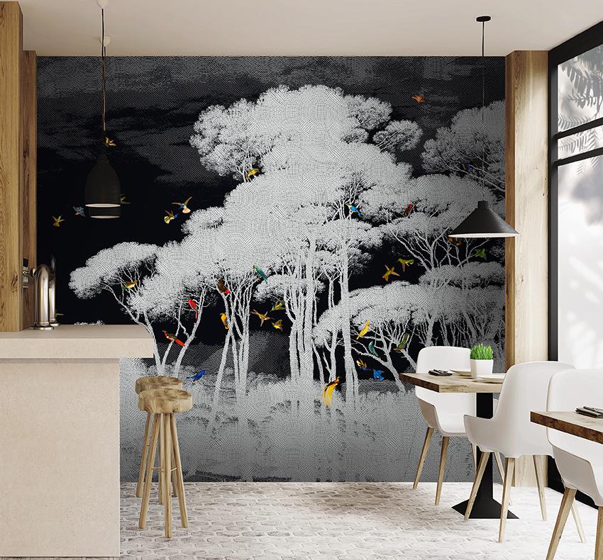 tropical wall mural