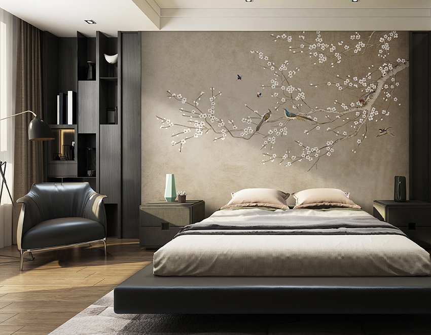 feature wall mural