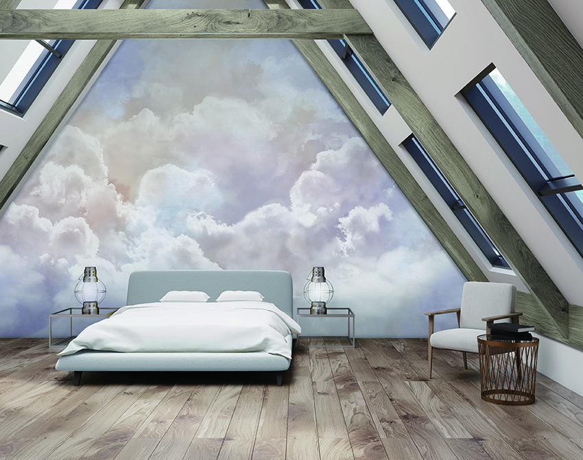 cloud wall mural